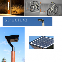 NEW DUO BOLLARD, LIGHT COLUMN AND EXPANDED SOLAR SOLUTIONS BY STRUCTURA
