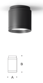 BEGA Surface Ceiling Cylindrical Downlight